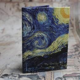 Фото Обложка на паспорт Звёздная Ночь Ван Гог
