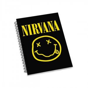 Блокнот в клетку на пружинах Nirvana фото