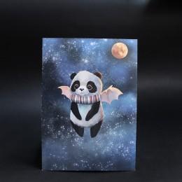 Фото Открытка Панда с крыльями