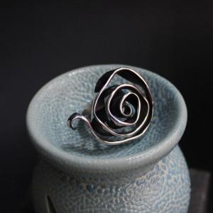 Фото Кольцо из нержавеющий стали Роза