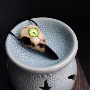 Фото Кулон Череп вороны с глазом