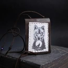 Фото Кулон-книга Волк в лесу №3