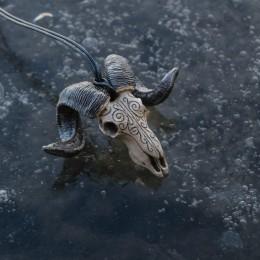 Фото Кулон Череп барана с узорами