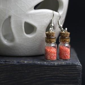 Фото Серьги бутылочки оранжевые