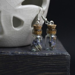 Фото Серьги бутылочки с лавандой
