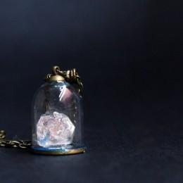 Фото Кулон-купол с белым кристаллом