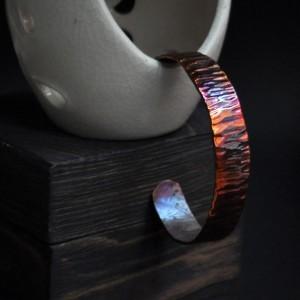 Фото Медный браслет узкий