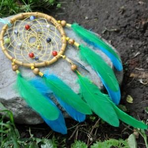 Фото Ловец снов бирюзово-зелёный Тропические сны