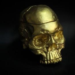 Фото Золотой череп шкатулка