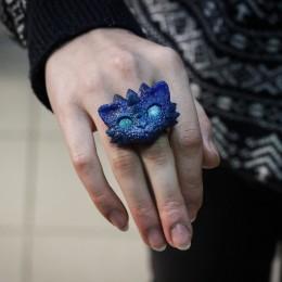 Фото Кольцо Синий Дракот