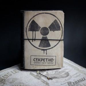 Фото Блокнот со знаком радиации