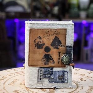 Фото Блокнот с кожаной обложкой Радиация. Конфиденциально