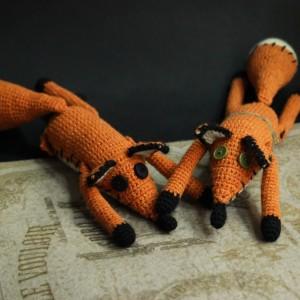 Фото Лис из Маленького принца игрушка ручной работы