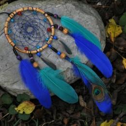 Фото Ловец снов сине-бирюзовые перья