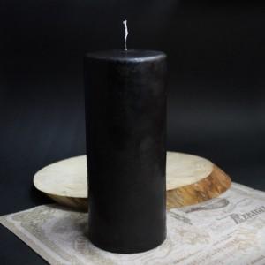 Фото Чёрная свеча классическая большая