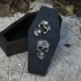 Фото Шкатулка в виде гробика с черепом