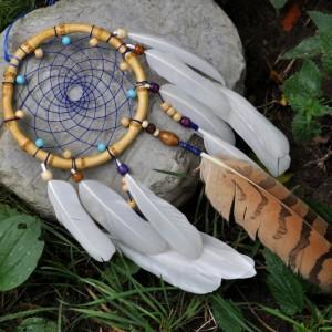 Фото Ловец снов с перьями цапли и филина