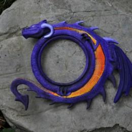 Фото Настенный барельеф Фиолетовый дракон