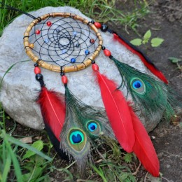 Фото Ловец снов павлиний глаз Багровый корень