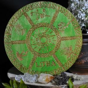 Фото Декор для алтаря - Колесо года Лита зелёный