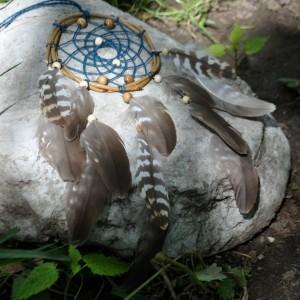 """Фото Ловец снов с перьями орла """"Полет охотника"""""""