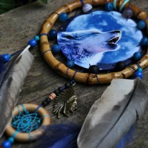 Фото Синий ловец снов Воющий волк