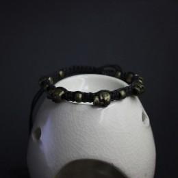 Фото Браслет с черепами под бронзу