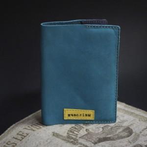 """Фото Голубая обложка на паспорт """"Шчаслiвы"""""""