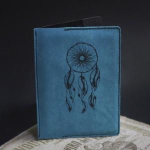 Фото Голубая обложка на паспорт Ловец снов