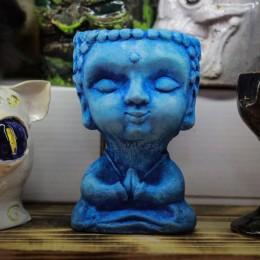 Фото Кашпо для цветов Будда Голубой
