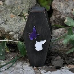 Фото Шкатулка гробик Ведьма в остроконечной шляпе