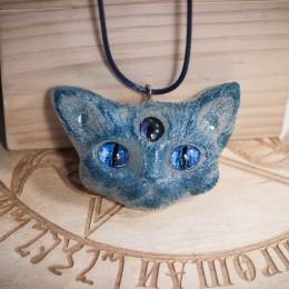 Фото Кулон Кот с голубыми глазами Серафим