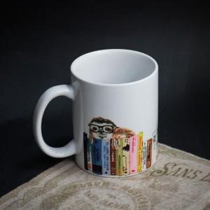 Фото Кружка Ленивец и книги