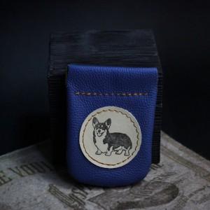 Фото Монетница Корги синяя