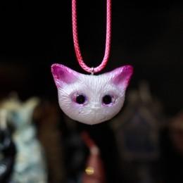 """Фото Кулон котик с розовыми ушами """"Малинка"""""""