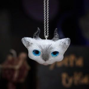 Фото Кулон рогатый котик Сиам