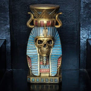 Фото Скульптура Фараон Череп золотой 33,5 см