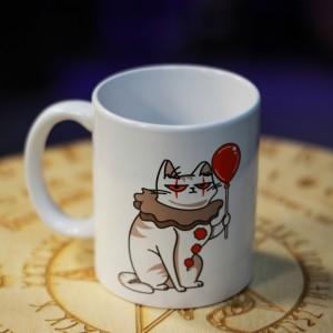 Фото Кружка Кот-Пеннивайз «Я пришёл выпить твой кофе», 300 мл