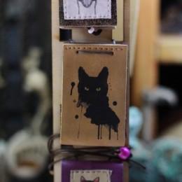 Фото Книга-кулон Чёрный кот Клякса