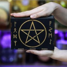 Фото Шкатулка для маятников и магических камней Пентаграмма