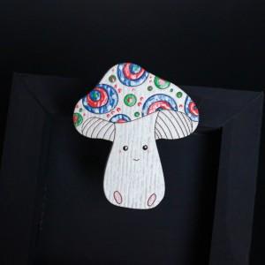 Фото Брошка Весёлый грибочек
