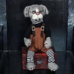 Фото Кот в коричневом комбинезоне