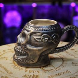 """Фото Кружка """"Мексиканский череп"""" под бронзу"""