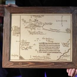 """Фото Картина А3 """"Карта Одинокой горы"""" Хоббит"""