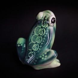 Фото Копилка Лягушка с узорами, керамика