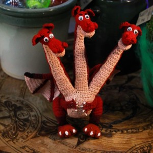 Фото Игрушка мягкая «Змей Горыныч», цвет красный