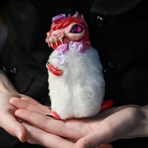 Фото Дракончик Флаффи Роза авторская игрушка фэнтези