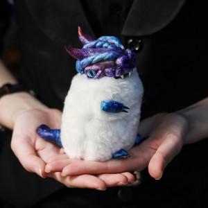 Фото Дракончик Флаффи Космос авторская игрушка фэнтези