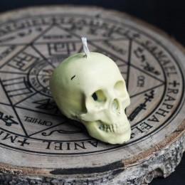 Фото Свеча череп маленький