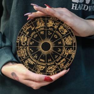 Фото Знаки Зодиака чёрный круг 15 см
